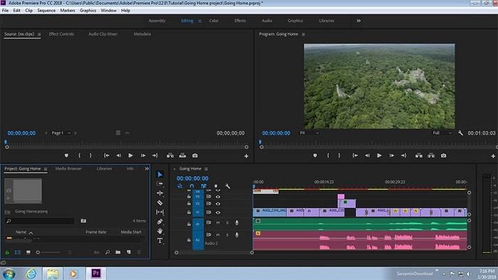 نرم افزار Adobe Premiere Pro در ویدیو مارکتینگ