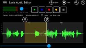 حذف صدا در lexis audio editor