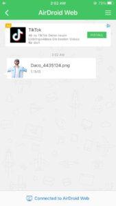 دانلود فایل ارسالی از airdroid